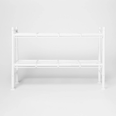 Under the Sink Expandable Storage Shelf White - Threshold™