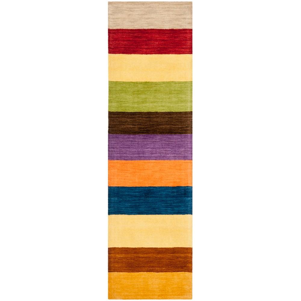 2'3X10' Loomed Stripe Runner Rug Yellow - Safavieh