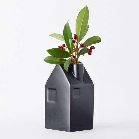 House Bud Vase Small Black Hearth Hand With Magnolia Target