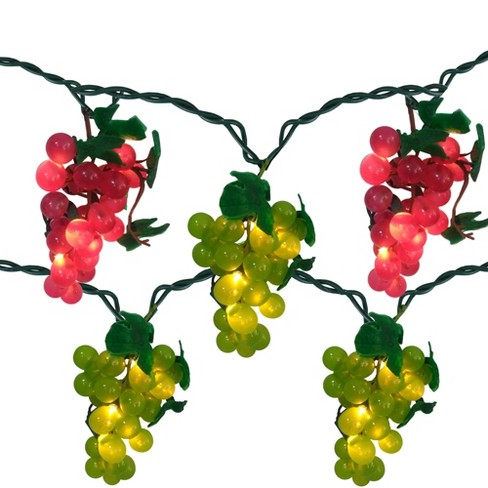Northlight 5 Red and Green Grape Cluster String Lights - 6ft. Green Wire - image 1 of 2