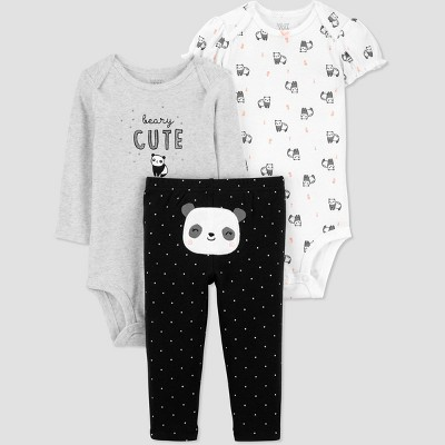 Baby Girls' Panda Top & Bottom Set - Just One You® made by carter's Black 3M