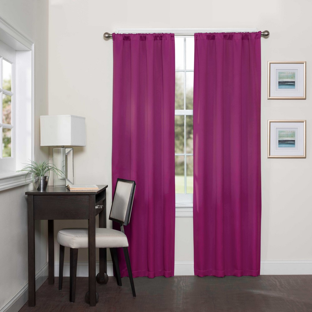 Darrell Thermaweave Blackout Curtain Panels Boysenberry 95 - Eclipse
