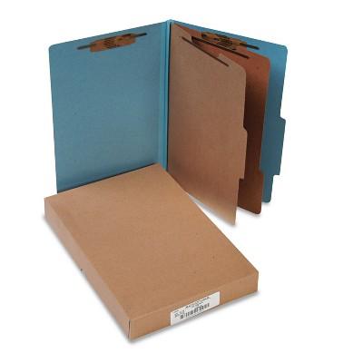 Acco Pressboard 25-Pt Classification Folders Legal 6-Section Sky Blue 10/Box 16026