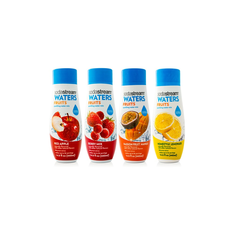 SodaStream Fruits Sparkling Drink Mix Variety Pack 440ml 4pk SodaStream Fruits Sparkling Drink Mix Variety Pack 440ml 4pk