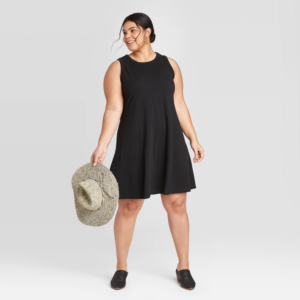 Women's Plus Size Tank Dress - Universal Thread Black 3X was $15.0 now $10.0 (33.0% off)