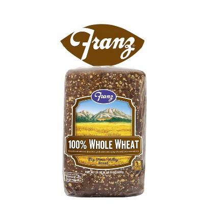 Franz 100% Whole Wheat Sandwich Bread - 24oz