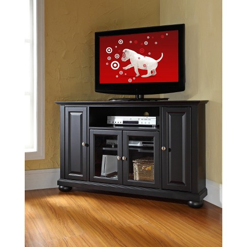 Alexandria Corner Tv Stand Black 48 Crosley Target
