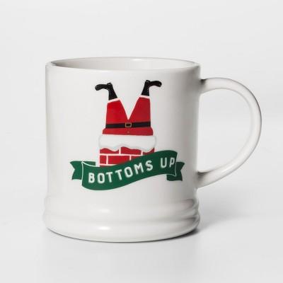 16oz Porcelain Bottoms Up Mug - Threshold™
