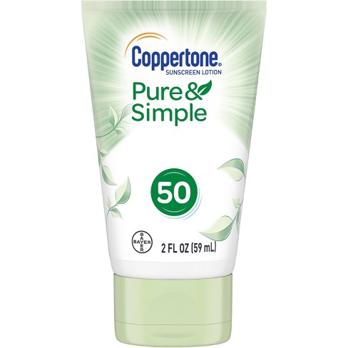 Coppertone Pure and Simple Botanicals Faces Sunscreen Lotion- SPF 50 - 2oz - image 1 of 4