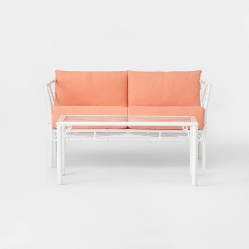 Pomelo 2pc Patio Loveseat & Coffee Table Set - Coral - Opalhouse™ - image 1 of 4