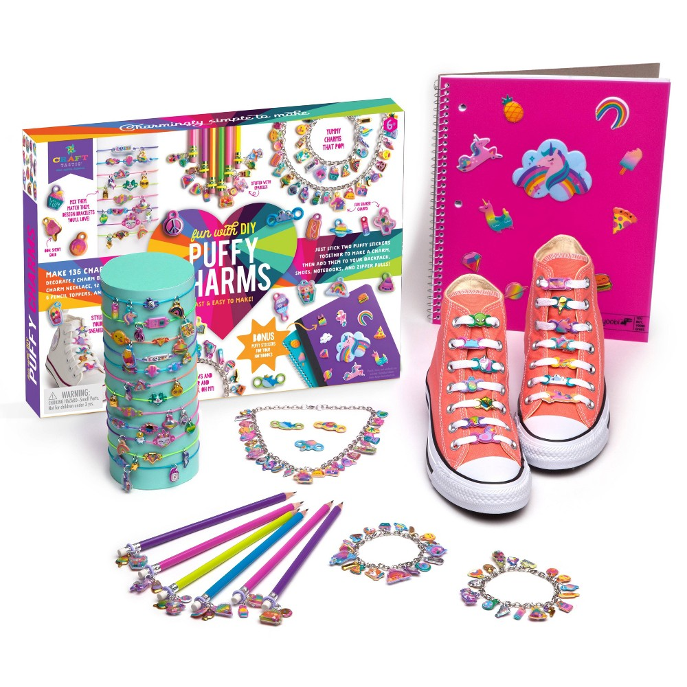 Image of Craft-tastic 423pc Fun with DIY Puffy Charms Craft Kit