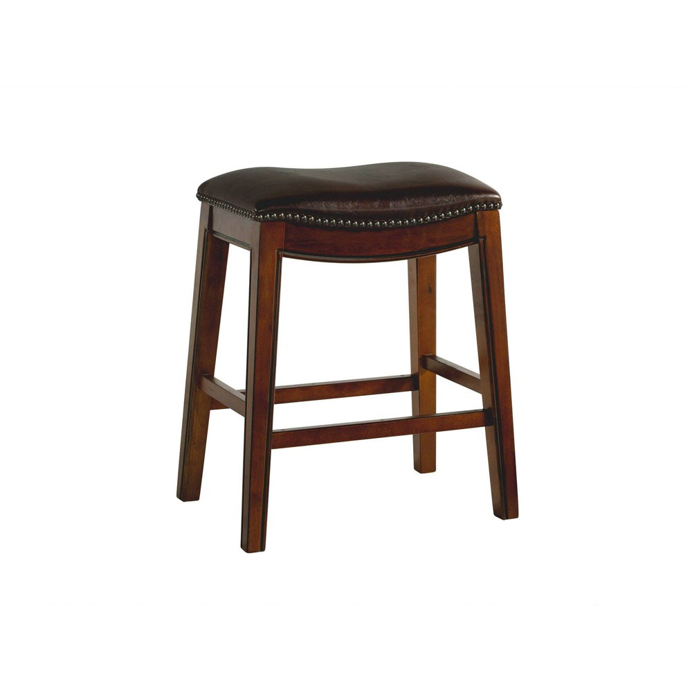 Image of 1pc Bowen Backless Counter Stool Brown - Picket House Furnishings