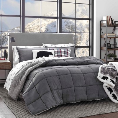 Full/Queen Sherwood Comforter Set Gray - Eddie Bauer