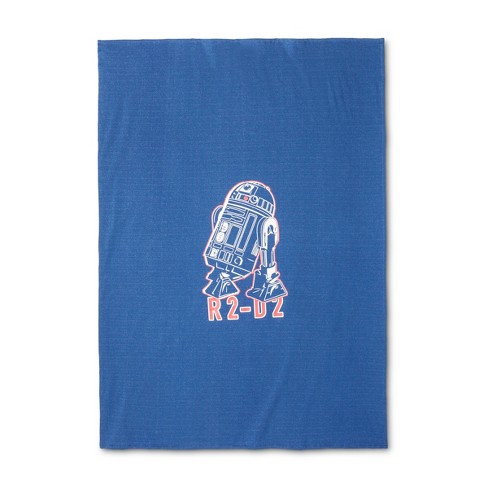 Star Wars® R2-D2 Blue Bed Blanket (Twin) - image 1 of 1