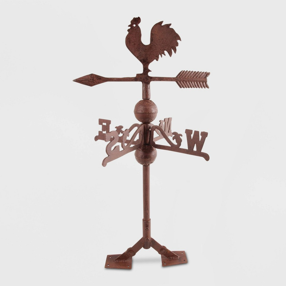 Image of 27 Iron Rooster Weathervane Brown - Esschert Design
