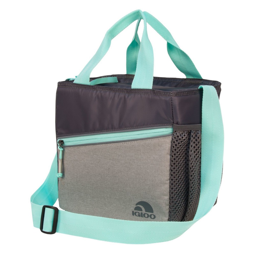 Image of Igloo 9 Can Balance Mini City Cooler Lunch Tote - Gray/Black