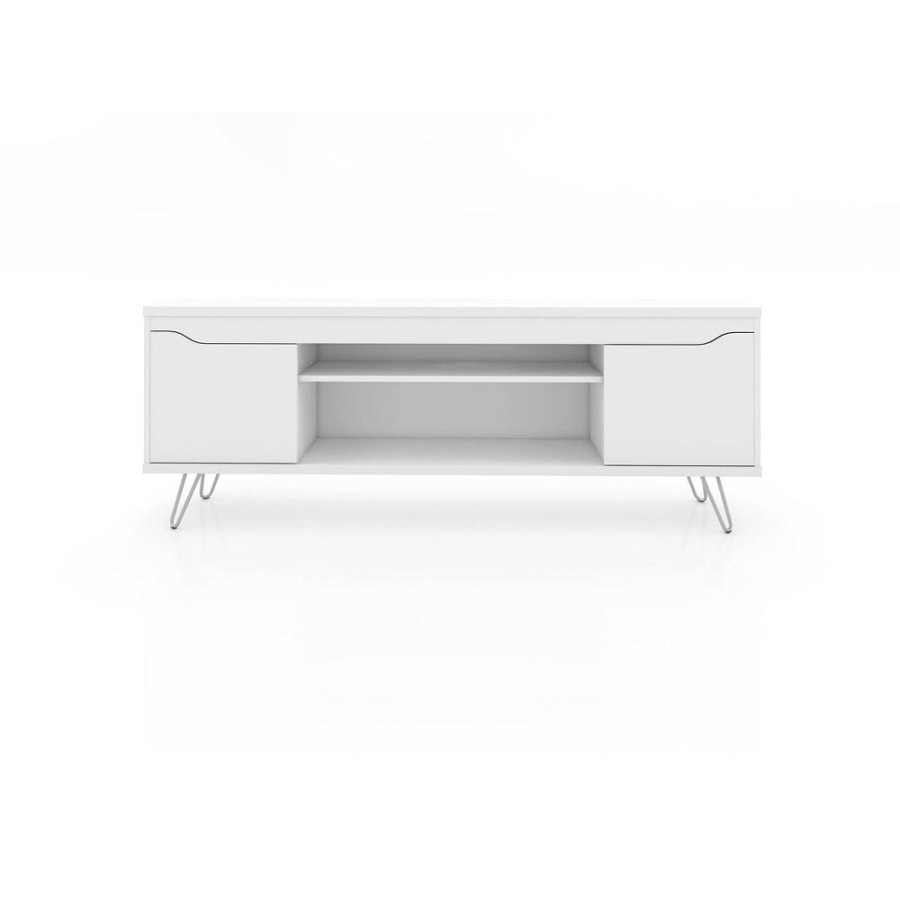 60 Baxter TV Stand White - Manhattan Comfort