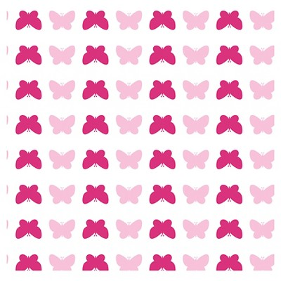 Tempaper Tots Butterfly Self-Adhesive Removable Wallpaper Pink