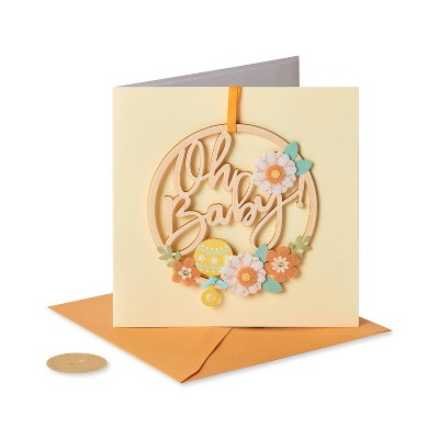 Wreath Oh Baby Card - PAPYRUS