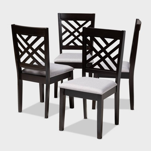 4pc Caron Finished Wood Dining Chairs - Baxton Studio - image 1 of 7
