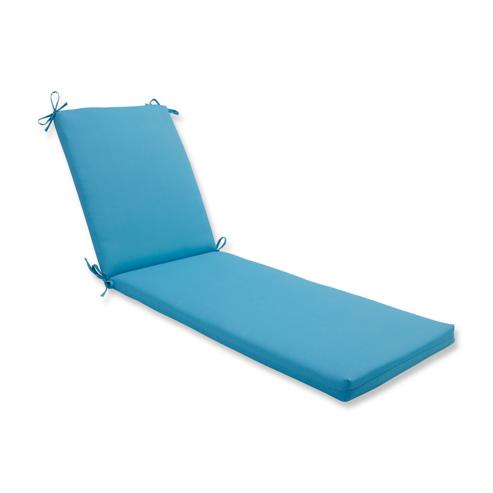 Indoor/Outdoor Veranda Turquoise Chaise Lounge Cushion - Pillow Perfect, Blue