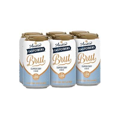 Austin Eastciders Brut Super Dry Hard Cider - 6pk/12 fl oz Cans