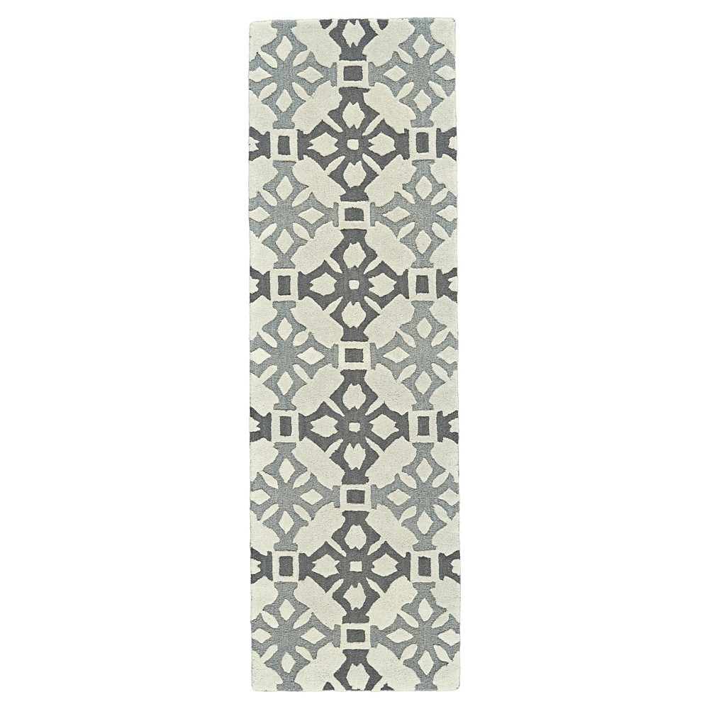 2'6X8' Runner Mosaic Design Tufted Runners Fog - Room Envy, Beige