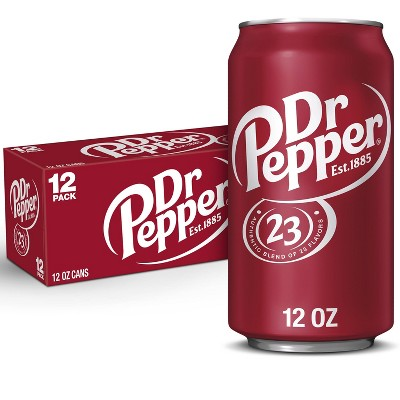 Dr Pepper Soda - 12pk/12 fl oz Cans