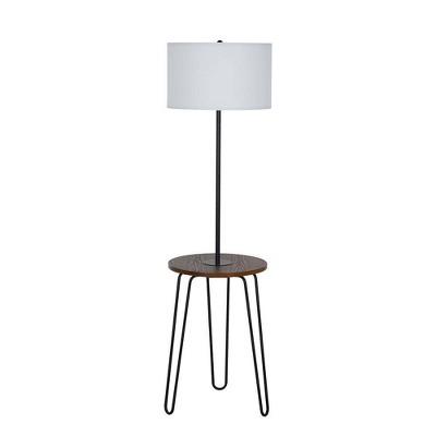 "59"" Magazine Floor Lamp with USB Black (Lamp Only)  - Cresswell Lighting"