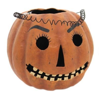 "Halloween 7.25"" Mr Jack Candy Bucket Retro Vintage  Pumpkin  -  Decorative Figurines"