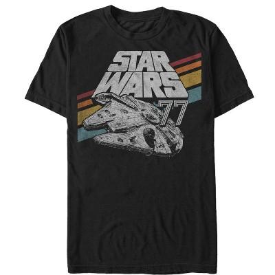 Men's Star Wars Retro 77 Millennium Falcon Stripes T-Shirt