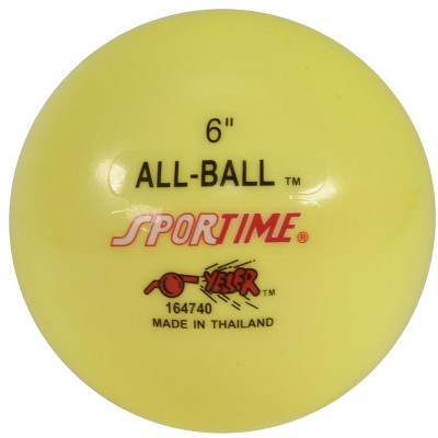 Sportime Multi-Purpose Inflatable All-Ball, 6 Inches, Yellow