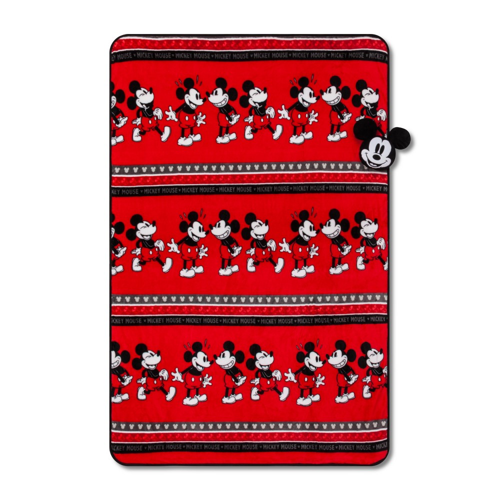 Image of Mickey Mouse & Friends Mickey Mouse Nogginz Blanket Set Red