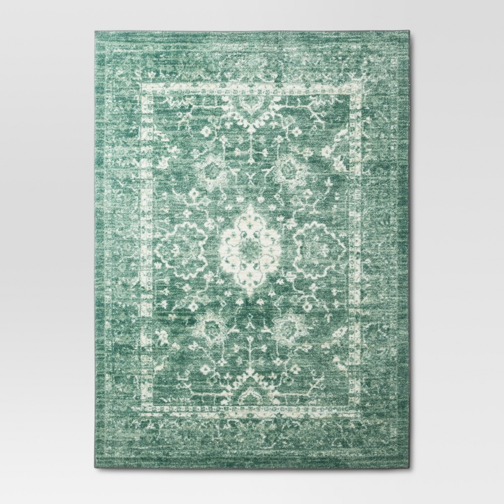 5'X7' Tufted Area Rug Floral Mint (Green) - Threshold