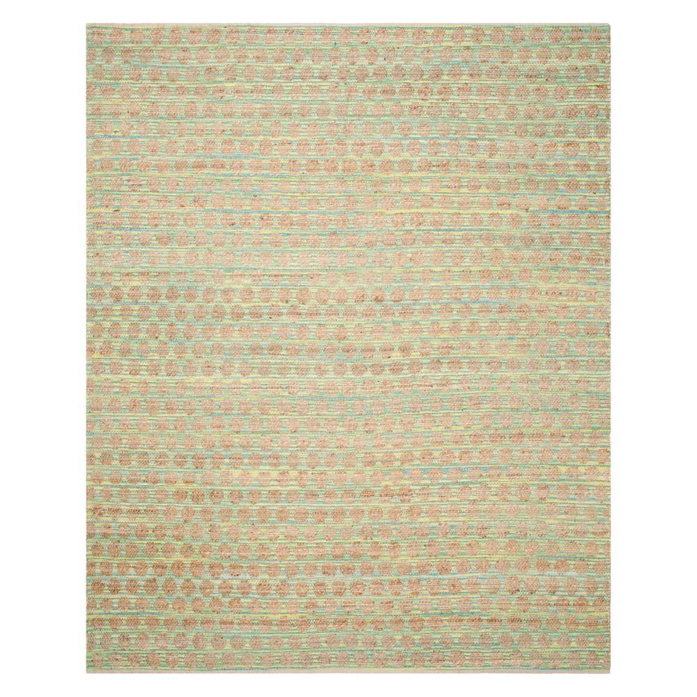 9'X12' Polka Dots Area Rug Teal/Natural (Blue/Natural) - Safavieh