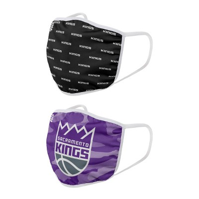 NBA Sacramento Kings Youth Clutch Printed Face Covering - 2pk