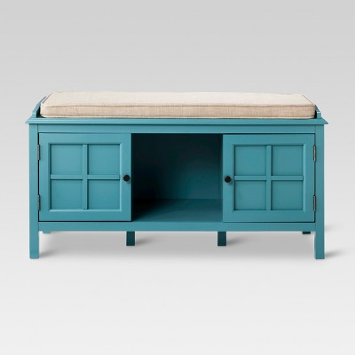 Windham Entryway Bench - Teal - Threshold™