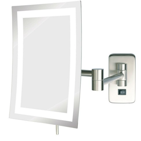 Jerdon 5x Led Lighted Rectangular Wall Mounted Mirror Extends 15 5