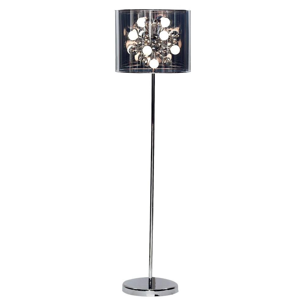 Adesso Starburst Floor Lamp Includes Light Bulb - Silver