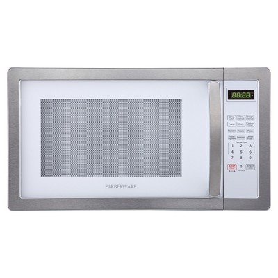 Farberware 1.1 Cu. Ft. 1000 Watt Microwave Oven - Stainless Steel