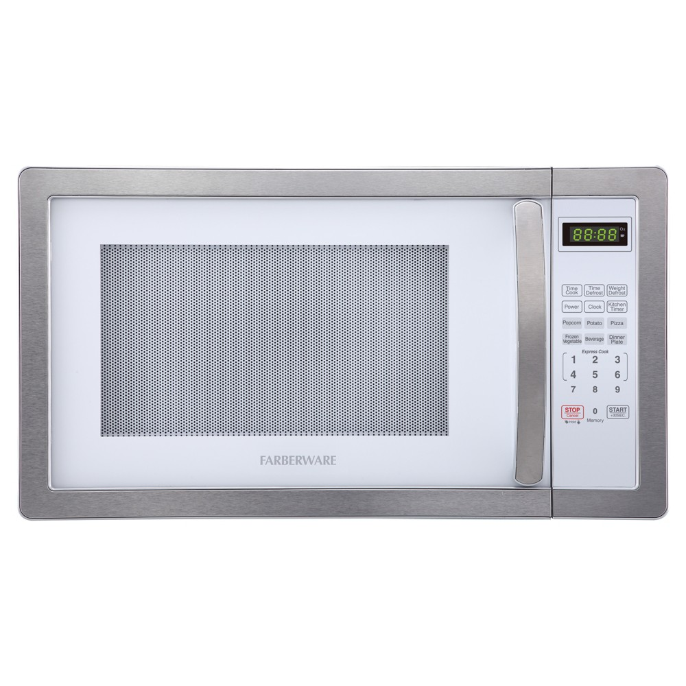 Farberware 1.1 Cu. Ft. 1000 Watt Microwave Oven – Stainless Steel (Silver) 52023913