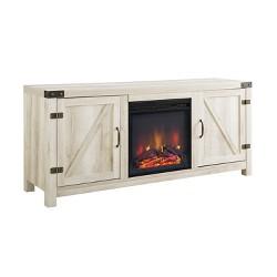 """58"""" Barn Door Fireplace TV Stand - Saracina Home"""