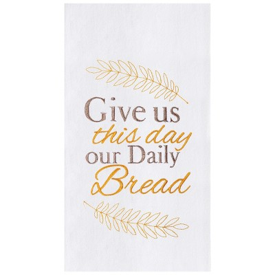 C&F Home Our daily Bread Embroidered Cotton Kitchen Flour Sack Dishtowell
