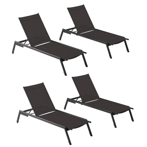 4pk Eiland Armless Chaise Lounge Black Oxford Garden Target