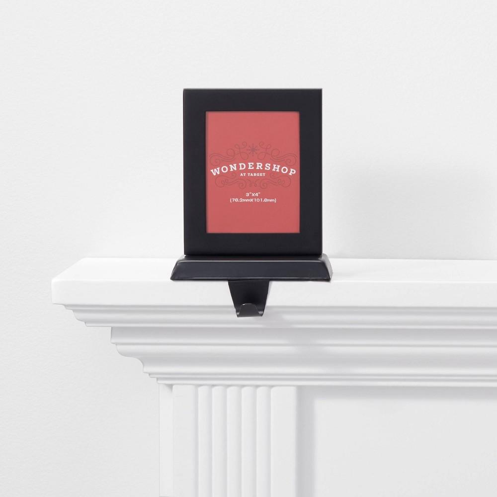 Image of 1ct Picture Frame Christmas Stocking Holder Black - Wondershop