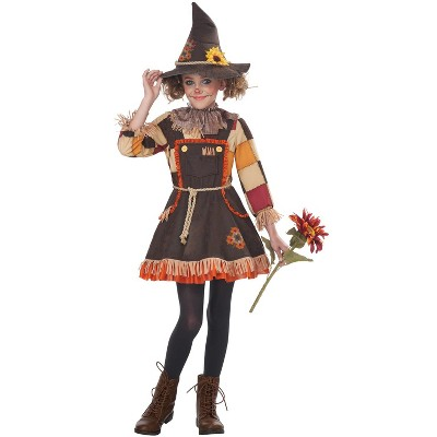California Costumes Patchwork Scarecrow Girl Child Costume