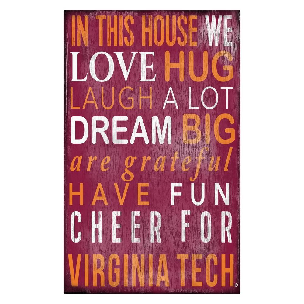 Virginia Tech Hokies In This House Sign