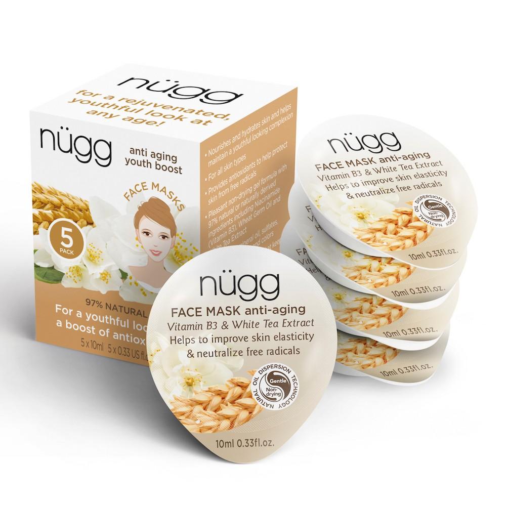 nügg Anti-Aging Face Mask - Vitamin B3 & White Tea Extract - 5ct