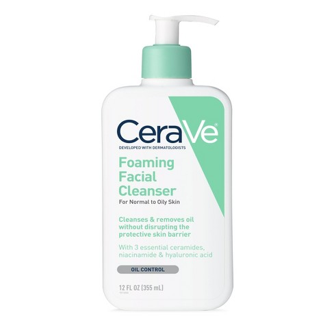 CeraVe Foaming Facial Cleanser for Normal to Oily Skin, Fragrance Free - 12oz - image 1 of 3