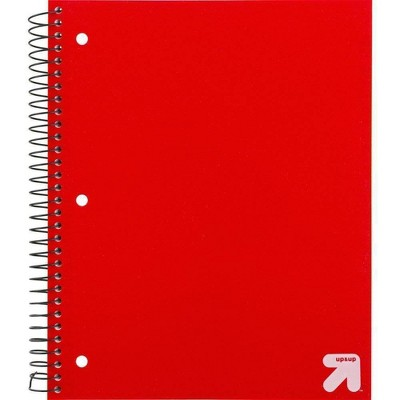 Spiral Notebook 3 Subject Wide Ruled PP 150 Sheets - up & up™
